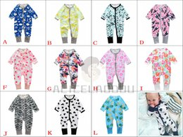 Wholesale Baby Boy Plaid Overalls - 11 Styles Baby clothing Rompers for boys and girls set of clothing long sleeves cartoon newborns overalls Roupas de Bebe 6-24M Spring Autumn