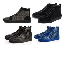 hot sale online 16fca d156a polka dot shoes Rebajas Red Bottoms Designer Boots Brand Studded casual  Shoes Designer Sneaker Brand Flats. 5