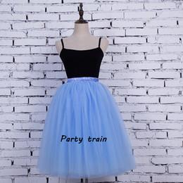Discount adult green tutus - Knee-length 7 Layers maxi Tulle Skirt Summer Mesh Skirts Fashion Women Adult Tutu Skirts Vadim Wedding Party 2018 saia faldas