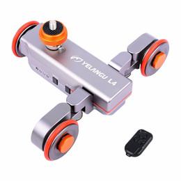 2020 kamera schieberegler großhandel Großhandel DSLR Motorisierten Elektrischen Autodolly Video Pulley Rollen Skater-Regler mit Remote für iPhone-Kamera-Geschwindigkeit einstellbar günstig kamera schieberegler großhandel