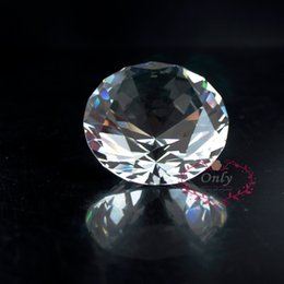 Wholesale Paperweights Gifts - Free Shipping Fengshui Style 2 Inch 50mm Nature Clear Quartz Crystal Diamond Stone Paperweight Wedding Decoration Gifts
