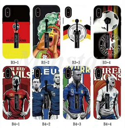 Wholesale Wholesale Silver Rings Usa - Factory Wholesale 2018 World Cup Pattern Ring Case for Samsung S9 S9 Plus S8 S8 Plus J7 Prime 2017 USA Version for iPhoneX 8 Plus 7 6S Cover