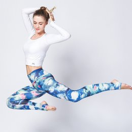 Wholesale Colorful Pants For Women - Women's Yoga Pants Ink Print Fitness Pants For Exercise Trainning Hoodies Pants with colorful Milk Silk Fabric