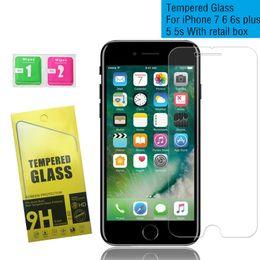 Argentina Película de vidrio templado Ultra HD Thin Screen Protector para iPhone 8 7 6 6s Plus 5 5s SE 0.3mm 2.5D 9H Película protectora con caja de papel al por menor cheap apple paper box Suministro