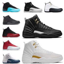 Wholesale Cherry Falls - 2018 cheap basketball shoes shoes 12 wool obsdn Blue Suede man TAXI Playoff ovo white Gym cherry RED Varsity RED sneaker