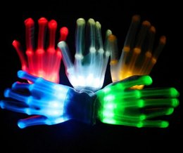 Wholesale Sign Supply Wholesalers - LED Lighting Gloves Flashing Cosplay Novelty Gloves Led Light Toy Flash Gloves for Sign Language Halloween Christmas Party Decoration DHL