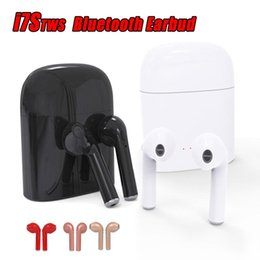 Wholesale Headphone X - I7S TWS Twins Bluetooth Headphones with Charger Box Wireless Earbuds Headset for IOS Iphone X Android Samsung with Retail Package
