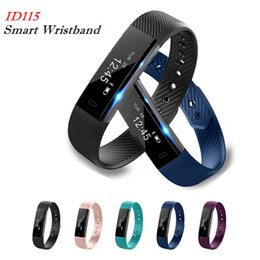 step monitors Promo Codes - Hot Sell Smart Bracelet ID115 Fitness Tracker Step Counter Activity Monitor Band Alarm Clock Vibration Waterproof Wristband for Smart phone