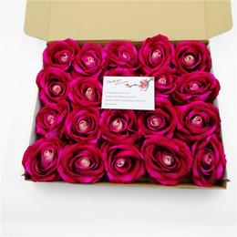 Vasi di bud online-Fiori artificiali 12 Teste / Bud panno di seta panno di seta Rose fiori finti Piante artificiali Foglie verdi Casa Vasi Autunno Decora