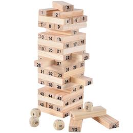 Укладка игры онлайн-DHL БЕСПЛАТНО Jenga Giant Hardwood Game Семейная Настольная Игра 54 Шт. Деревянная Укладка Tumbling Tower Blocks Питьевая Игра Рождественский подарок детские игрушки