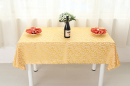 Wholesale Tablecloths For Tables - B24-4 Plant Western Restaurant Feast Jacquard Tablecloths Rectangle Square Round Wedding Table Cloth Everything For The Kitchen