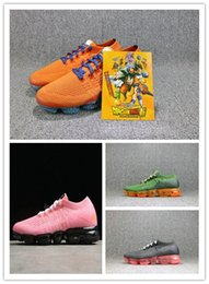 Wholesale dragon ball z pvc - VaporMax 2.0 Dragon Ball Z fly Running Shoes Fashion Jointly Designer Outdoor Trainers flying knits Dragonball Jogging running Shoes