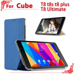 Wholesale T8 Tablet - PU Leather Case for 8 Inch CUBE T8 t8s t8 plus Ultimate tablet pc, High-quality case for cube Free Young X5 cover