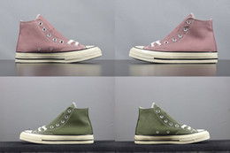 Wholesale one euro - With box 2018 Mens and Womens One Star High Cut Casual Shoes Sneakers Green Pink for Men Brand Designer Shoes Size Euro 36-10