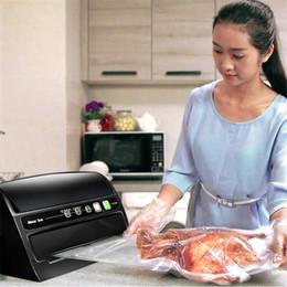 Wholesale food vacuum sealer machine - Household Automatic Vacuum Sealer Food Keeping Fresh Machine Multi Function Vacuum Sealing machine 220V 110V Vacuum Food Sealer