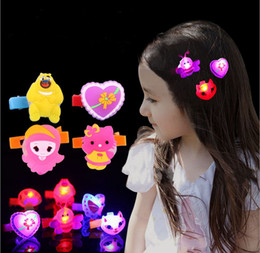 car hair Promo Codes - Hairpin Led Novelty Luminous Hair Gadgets Halloween Frog Dog Bull Car Love Led Swan lighting Shinning funny Bright Xmas Party Led Rave Gifts