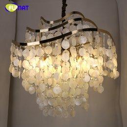 Mémoire américain de barre de lumière pendante coquille fraîche fraîche de lampe de chambre à coucher de lampe de chambre à coucher naturelle ? partir de fabricateur