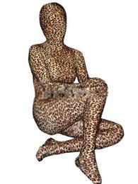 Ternos lycra leopardo on-line-Corpo inteiro Novo Leopardo Unisex Lycra Spandex Zentai Terno S-XXL