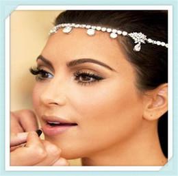 Wholesale Usa Diamond - Fashion Europe and USA style wedding accessories headdress hair band headband popular bride new diamond bridal hair accessories 0205008