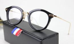 Cornice 46 online-Nuova montatura per occhiali da vista tb011 46-21-150mm Plank Occhiali da sole rotondi Montatura per occhiali tb-011 Donna Uomo Occhiali Montature per miopia con scatola originale