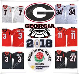 Wholesale Walker Wine - Rose bowl 2018 Play off Georgia Bulldogs NCAA Jersey 3 GURLEY II 7 SWIFT 11 Jake Fromm 10 Jacob Eason 27 Chubb 34 Herschel Walker Football
