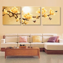 Wholesale Orchid Oil Painting Canvas - poster canvas Wall Art orchids Decoration art oil painting Modular pictures on the wall sitting room cuadros Unframed