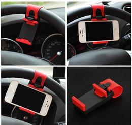 Evrensel Araç Direksiyon Klip Montaj Tutucu iPhone 7 için 7 Artı 6 6 s Samsung Xiaomi Huawei Cep Telefonu GPS nereden iphone direksiyon simidi tedarikçiler
