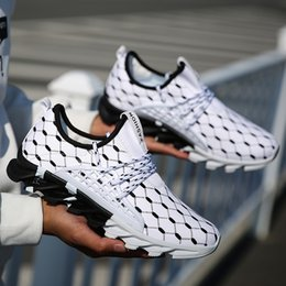 Wholesale Rubber Gym Flooring - Men Sneakers Size 9 Running Shoes Walking Jogging Sport Gym Shoes Takkies White casual fashion trainers athletic breathable walking tennis