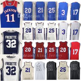 Wholesale Black Blue Star - Ncaa college Men's 2018 New Joel Embiid Ben Simmons Jersey University Markelle Fultz J.J. Redick Jerseys 20 21 25 3 17 76ers All Star