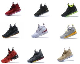 Wholesale Mens Runing - (With box) High Quality Newest Ashes Ghost LeBrons 15 Basketball Shoes LeBrons shoes Arrival Sneakers 15s Mens James Sneakers Size 40-46