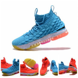 Wholesale Fire Training - New Arrival What the James 15 Ice Fire Basketball Shoes for High quality james 15s Airs Cushion Training Sports Sneakers Size 40-46