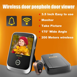 Wholesale Wireless Door Video Camera - Hot sale KDB307A Wireless Door Eye Peephole Door Viewer Wireless Video Doorbell Camera with 3.5 Inch Monitor for Home Apartment ann