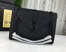 enveloppes ouvertes Promotion AAA 396910 31cm grand sac enveloppe en cuir texturé mixte noir, cuir de vachette, doublure en gros-grain, venez avec sac à poussière, livraison gratuite