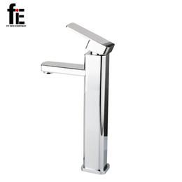 Wholesale Mixer Thermostatic Valve - fiE Bathroom Faucet Mixer Tap Torneira Ceramic Taps Valve Chrome Water Tap Modern Desk Basin Faucet