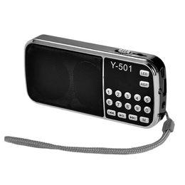 Wholesale Smallest Stereo Speakers - Digital Picks Elderly Portable Plug-in Card Small Speakers Radio Stereo MP3 Music Player Portable LCD Digital FM SD TF Card Radio Speaker