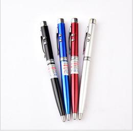 scrittura laser Sconti penna lampeggiante a led penna puntatore laser penne a led penne a sfera multifunzione illuminate a led
