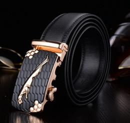 Wholesale leopard head belt - Classic men's leather belt 2018 suit men's leather belt automatic buckle belt leopard head