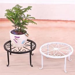 arte del fiore Sconti Iron Art Indoor Flower Telaio Stand Bonsai Desktop Decor Holder Supporto antiusura Flowerpot Non facile da deformare 8jx jj