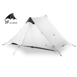 3f ул передач Скидка 2018 LanShan 2 3F UL GEAR 2 человека Oudoor сверхлегкий кемпинг палатка 3 сезон профессиональный 15D Silnylon палатка без стержня
