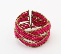 Canada Bracelet de perles fait main de style européen et américain et de perles de style Bohême multicolores ouvrant un bracelet fantaisie Offre