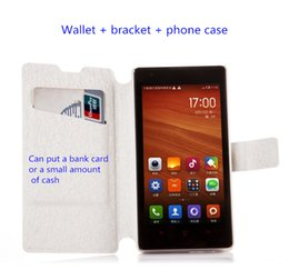 Wholesale Red Rice Phone - TPU Leather Case Stand Wallet Style Photo Frame Phone Bag Case Cover With Card Holder For xiao mi pro note 2 3s   red rice 3 high with