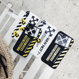 Graffiti Stripe Couverture Arrière Souple Bracelet Double Corde Téléphone Coque Imprimée Protecteur Lettre Blanc pour iPhone XS Max XR 6s 7 8 Plus ? partir de fabricateur