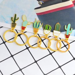 Wholesale Jewelry Cactus - Miss Zoe Cute Cactus potted succulent plants Keychain Key Chain Aloe vera Plant Keyring Accessories Jewelry Gift for friends