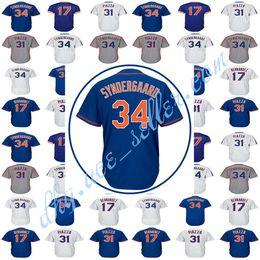 Wholesale Darryl Strawberry - Men's New York 34 Noah Syndergaard 18 Darryl Strawberry Baseball Jersey Steven 52 Cespedes Majestic 48 Jacob DeGrom Jerseys