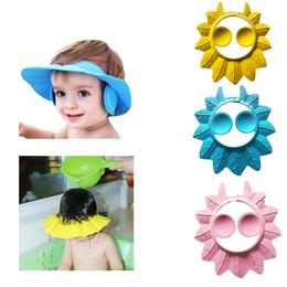 2019 escudos de shampoo para crianças 2018 Crianças Ajustáveis crianças Shampoo Bath Shower Hat Cap Lavar O Cabelo À Prova D 'Água Escudo escudos de shampoo para crianças barato