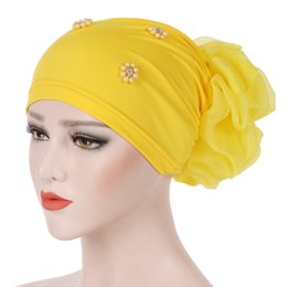 ladies muslim cap Promo Codes - New Women's Hijabs Turban Cloth Head Cap Hat Ladies Hair Accessories Muslim Scarf Cap