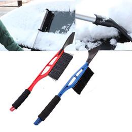 limpador de janela de carro ferramenta Desconto Novo 2-in-1 Car Ice Scraper Neve Removedor Pá escova Janela Pára-brisas Pára-brisas de remoção do gelo Lavagem Ferramenta Raspagem