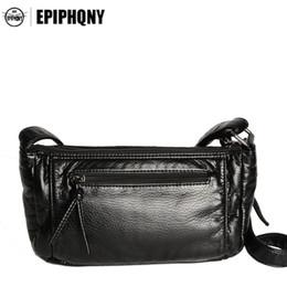 08a0e266cb5f Epiphqny Brand Soft PU Leather Black Shoulder Bag Fashion Women Handbags  Crossbody Bags for Lady Design Multiple Pockets Cool