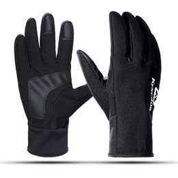 outdoor wind screens Coupons - 1 pair Black Waterproof Fleece Men Women Ski Gloves Wind-proof Thermal Touch Screen Outdoor Snowboard Gloves 2018 Newest