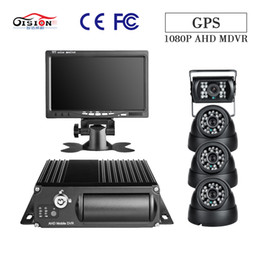 2019 gps di trasporto GISION 4CH GPS 1080P veicolo DVR mobile con 4Pcs AHD 2.0MP Telecamere 7 pollici Monitor G-sensor per Truck Surveillance Recorder sconti gps di trasporto